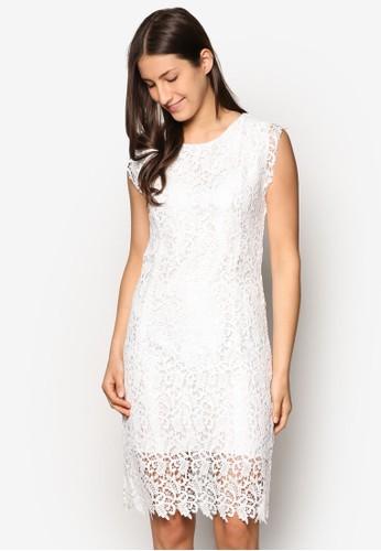 蕾絲esprit tw無袖連身裙, 服飾, 洋裝