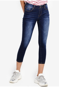 e94dc0ffe9 Something Borrowed blue Cropped Washed Skinny Jeans A3F8EAAF068B34GS_1