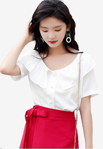 Shopsfashion white Layered Blouse CE6A5AADB42AA6GS_1