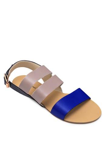 三色涼鞋, 女鞋,zalora鞋子評價 鞋