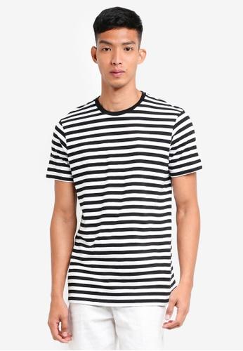 Cotton On 黑色 and 白色 TBar Premium Crew Tee 543EDAAC0659BBGS_1