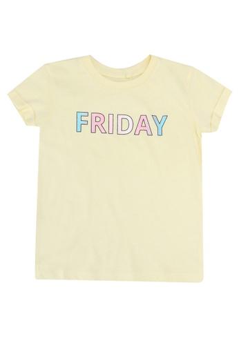FOX Kids & Baby yellow Light Yellow Placement Print T-Shirt AA03EKA73579B5GS_1