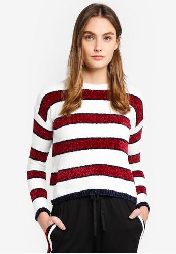 6IXTY8IGHT multi Striped Chenille Sweater BC54DAA77442D2GS_1