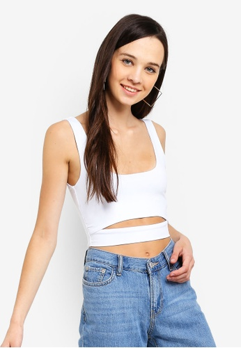 Supre white Luxe Cut Out Crop Top ED78FAA25691B0GS_1