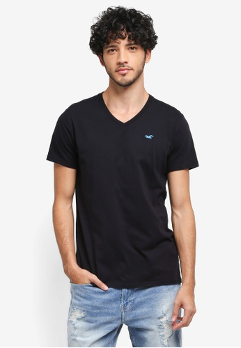 Hollister black Core Icon V-Neck T-Shirt AED9CAAF58D5DCGS_1