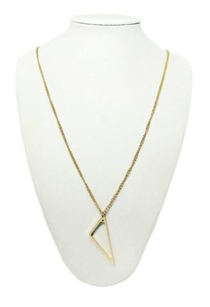 Cutout Triangle Long Necklace