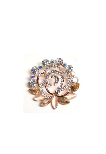 Loveaisyah yellow Brooch Amber crystal faux diamond Moonstone Flower AFA65ACF32FC2EGS_1