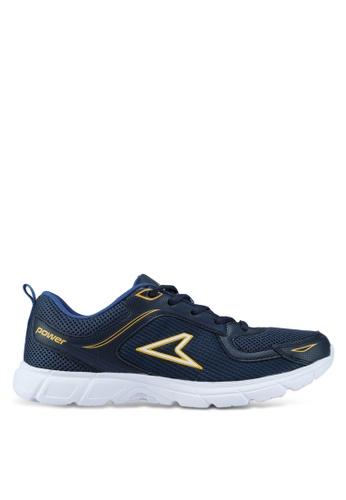 Power blue Woven Training Shoes D6337SHA8316EAGS_1