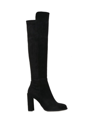 Twenty Eight Shoes black Skinny Over Knee High Heeled Boots 516 TW446SH2VP67HK_1