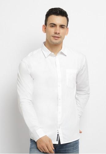Osella white Osella Baju Pria Kemeja Polos Putih A5A70AA8CBF2C2GS_1