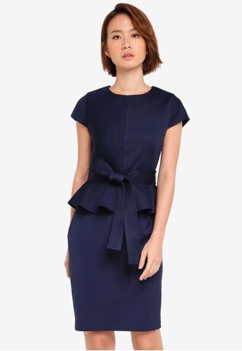 ZALORA navy Peplum Dress 38178AA990A0ABGS_1