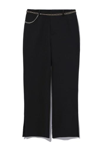 b+ab black Chain embellished pants 074C5AAB117D9BGS_1