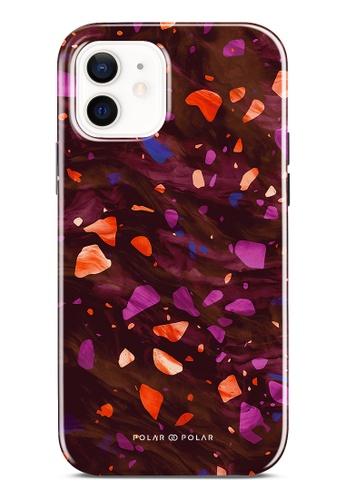 Polar Polar red Paprika Terrazzo Gem Dual-Layer Tough Case Glossy For iPhone 12 91656AC52CDB06GS_1