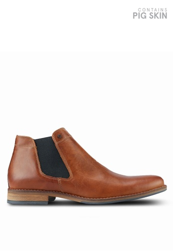 Dune London brown Plain Toe Chelsea Boots DU588SH0RK6LMY_1