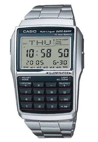 Casio silver Casio Data Bank - Jam Tangan Pria - Silver - Stainless Steel -  DBC 23280e1aa8
