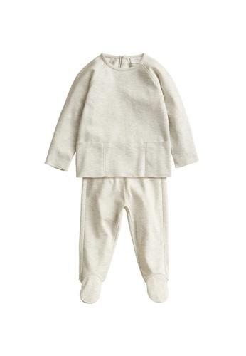 MANGO BABY grey Cotton Long Pyjamas 036D3KAF88707FGS_1
