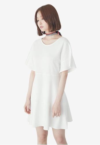 NAIN white Wide Sleeves Dress FB37BAABD11973GS_1