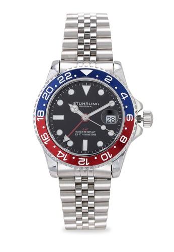 Stuhrling Original silver Aquadiver 3968 Watch 41FC0AC92BF8DCGS_1