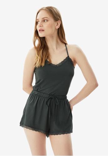 Trendyol 綠色 針織蕾絲 Pajamas Set 26DC4AA946AEBEGS_1