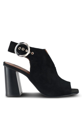 Topshop Nika Round Buckle Heeled Sandals