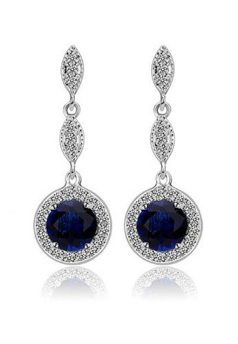 Vivere Rosse blue Monroe Link Earrings (Sapphire) VI014AC58RBHMY_1