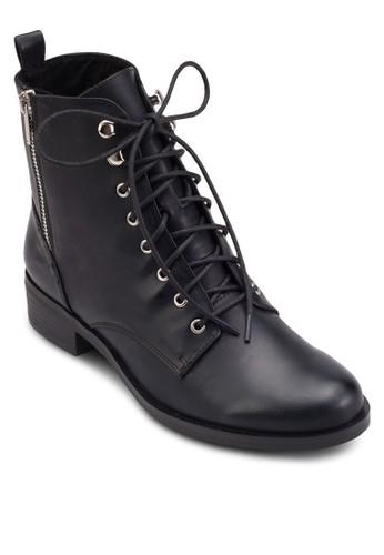 側拉鍊繫帶騎士esprit 請人短靴, 女鞋, 鞋