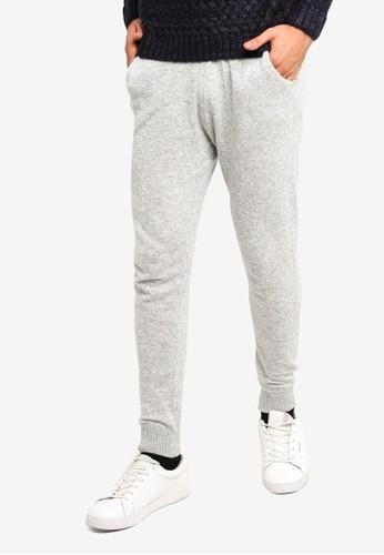MANGO Man grey Flowy Jogging Trousers F7B96AA7DCD86BGS_1