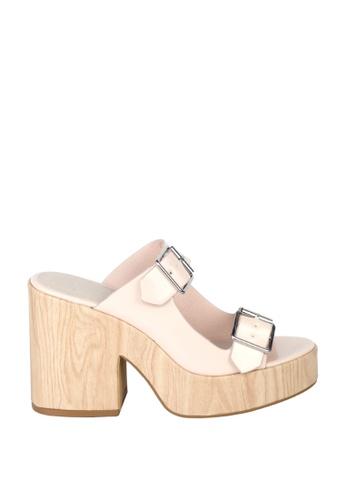 London Rag London Rag女士夏季肤色木高跟拖凉鞋SH1394 LO507SH0A5EOTW_1