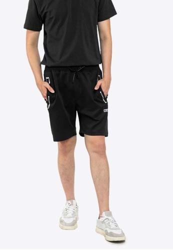 FOREST black Forest Elastic Waist Leisure Short Pants - 665058 97E63AA49E2951GS_1
