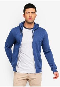 569e3d2154b6 Brave Soul blue Zip Through Hooded Sweatshirt 17D8CAA3EF1DB2GS 1