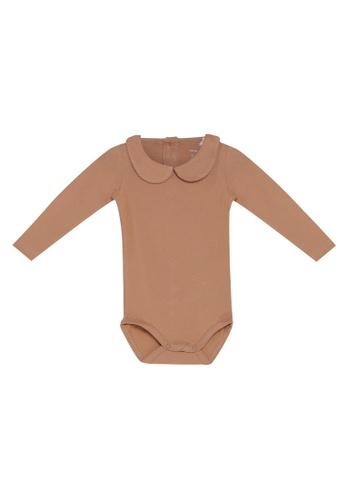 NAME IT brown Naima Long Sleeves Bodysuit 125CDKA21EE5CFGS_1