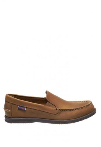 Sebago brown Litesides Slip On Boat Shoes SE328SH0IW4IPH_1