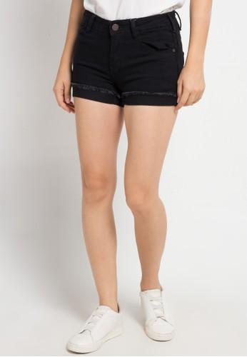 Miyoshi Jeans blue A184Pk Women Lw Roll Up Hot Pant 51558AAA14F6D4GS_1