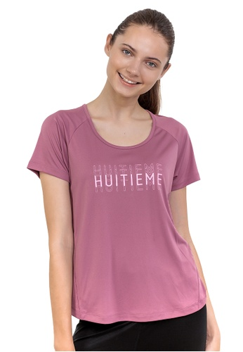 Huitieme red HUITIÈME DRI FIT WINE TEE. 37D14AA51D2B48GS_1