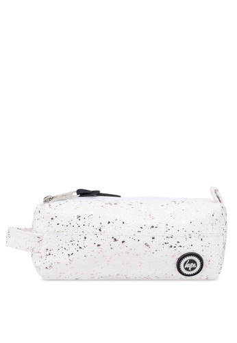 Just Hype white and pink Flakes Pencil Case 9CF32AC210265EGS_1