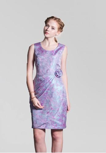 氣質zalora 包包 ptt貴婦套裝背心式桃心領玫瑰花2片裙短洋裝, 服飾, 派對洋裝