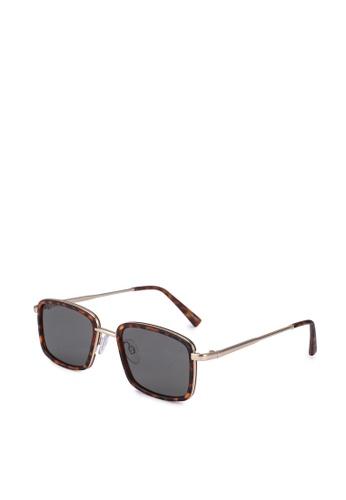 ALDO brown Vanderpool Rectangular Sunglasses 192BAGL69C225EGS_1