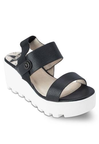 厚zalora是哪裡的牌子底楔形跟涼鞋, 女鞋, 鞋