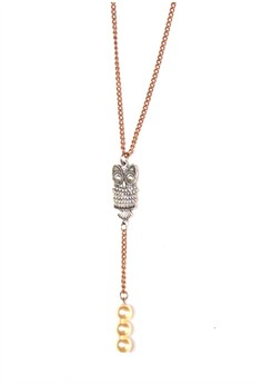 Owl Pearl Necklace