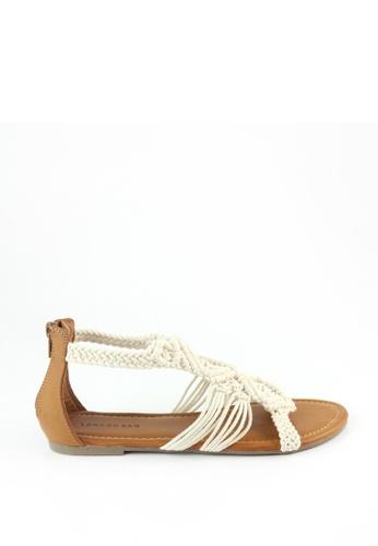 London Rag white London Rag Women's Summer White  Flat Sandals SH1218 LO704SH56IYPHK_1