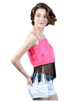 FEF Clothing's Veronica Backless Fringe Top