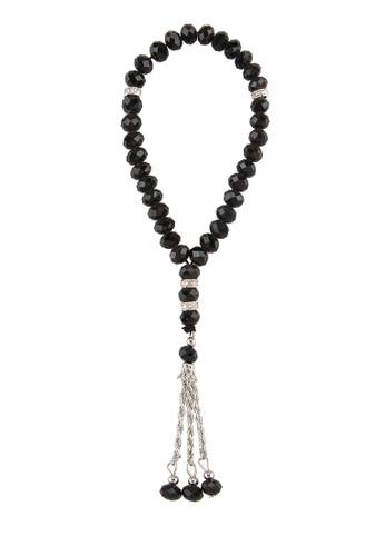 SHALIMAR black Beads Crystal Premium 33 Tasbih SH713AA80CMHID_1