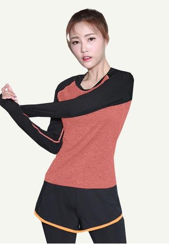 B-Code orange ZYG5097-Lady Quick Drying Running Fitness Yoga Sports Hoodie-Orange A13F8AA6FD67A2GS_1