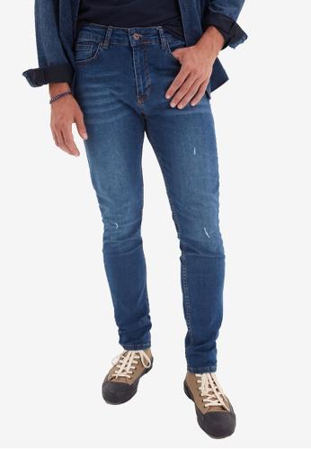 Trendyol navy Slim Fit Jeans 0D5C9AA28603ABGS_1