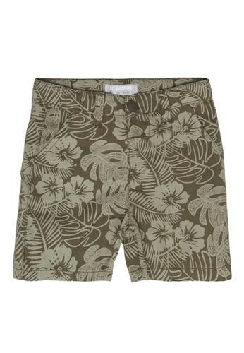 LC Waikiki green Figured Gabardine Shorts 78D0FKA2B71ECCGS_1