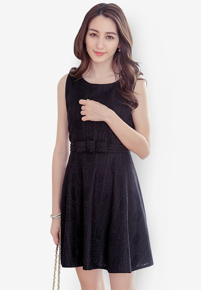 Skater Dress with Bow Detail