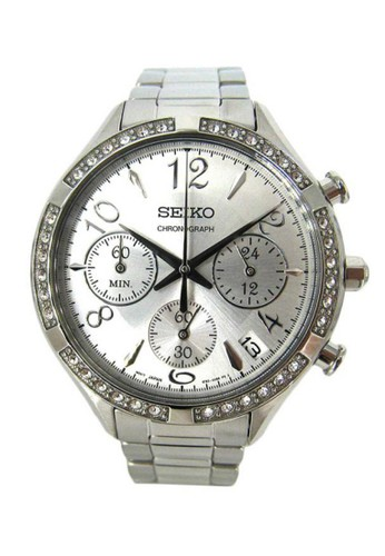 Seiko silver Jam Tangan Wanita Seiko Chronograph SSB899P1 Strap Stainless Steel Silver SE382AC0VP7HID_1