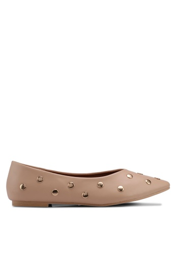 Carlton London beige Embellished Ballerinas CCD48SHEA9B8D2GS_1