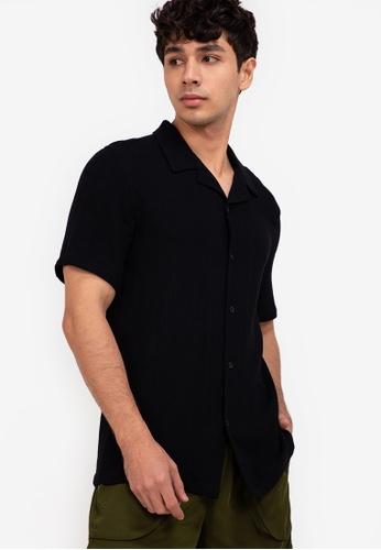ZALORA BASICS black Bowling Shirt C4432AA38B12DFGS_1