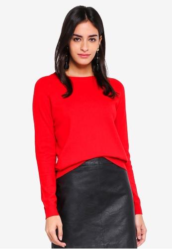 Vero Moda red Gin Happy Long Sleeve Pullover C3CBBAA3272467GS_1